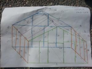 Tässä on itseasiassa osaluettelo huoneen siirtoa varten :) Oikea suunnitelma kannattaa tehdä mittakaavassa.
